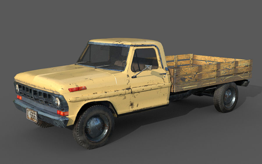 car rusty car,vehicle, jeep, low poly car royalty-free 3d model - Preview no. 6