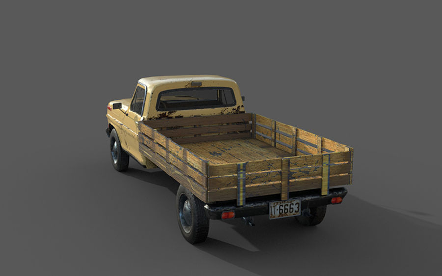 Auto rostiges Auto, Fahrzeug, Jeep, niedriges Polyauto royalty-free 3d model - Preview no. 2