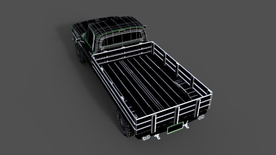 car rusty car,vehicle, jeep, low poly car royalty-free 3d model - Preview no. 8
