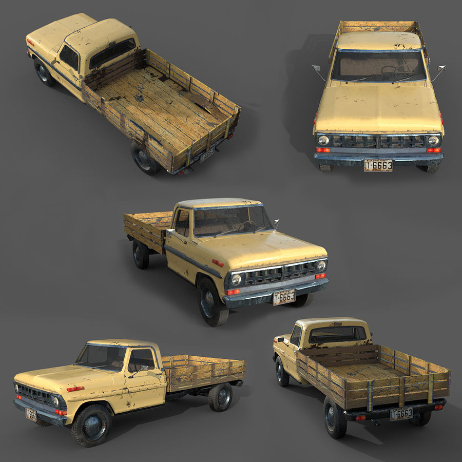 car rusty car,vehicle, jeep, low poly car royalty-free 3d model - Preview no. 1