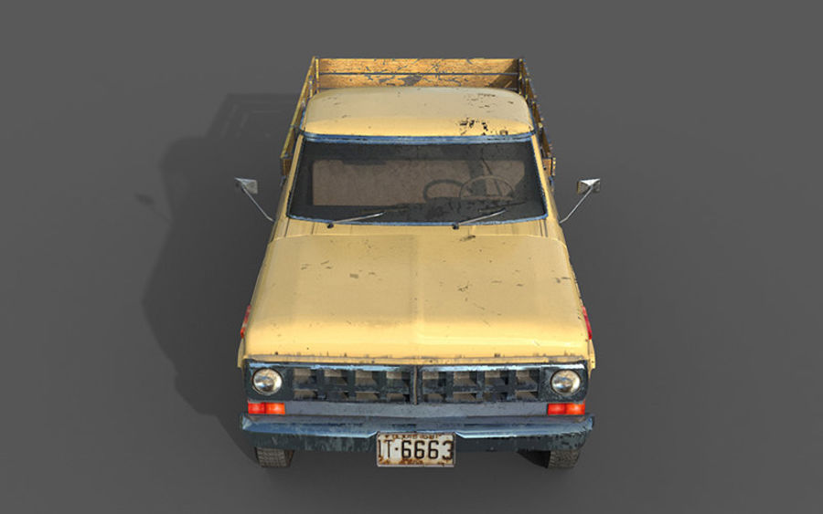 car rusty car,vehicle, jeep, low poly car royalty-free 3d model - Preview no. 3