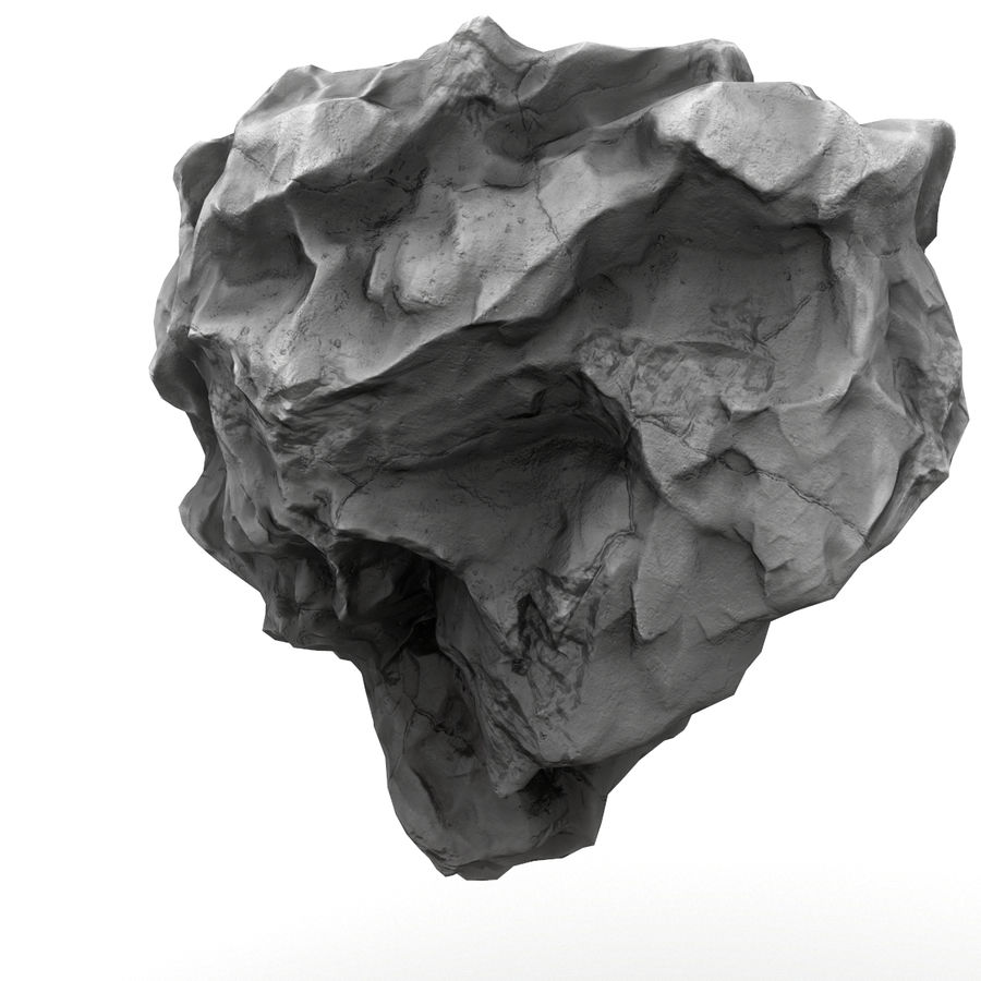 Meteor Asteroid Rock(1) royalty-free 3d model - Preview no. 2