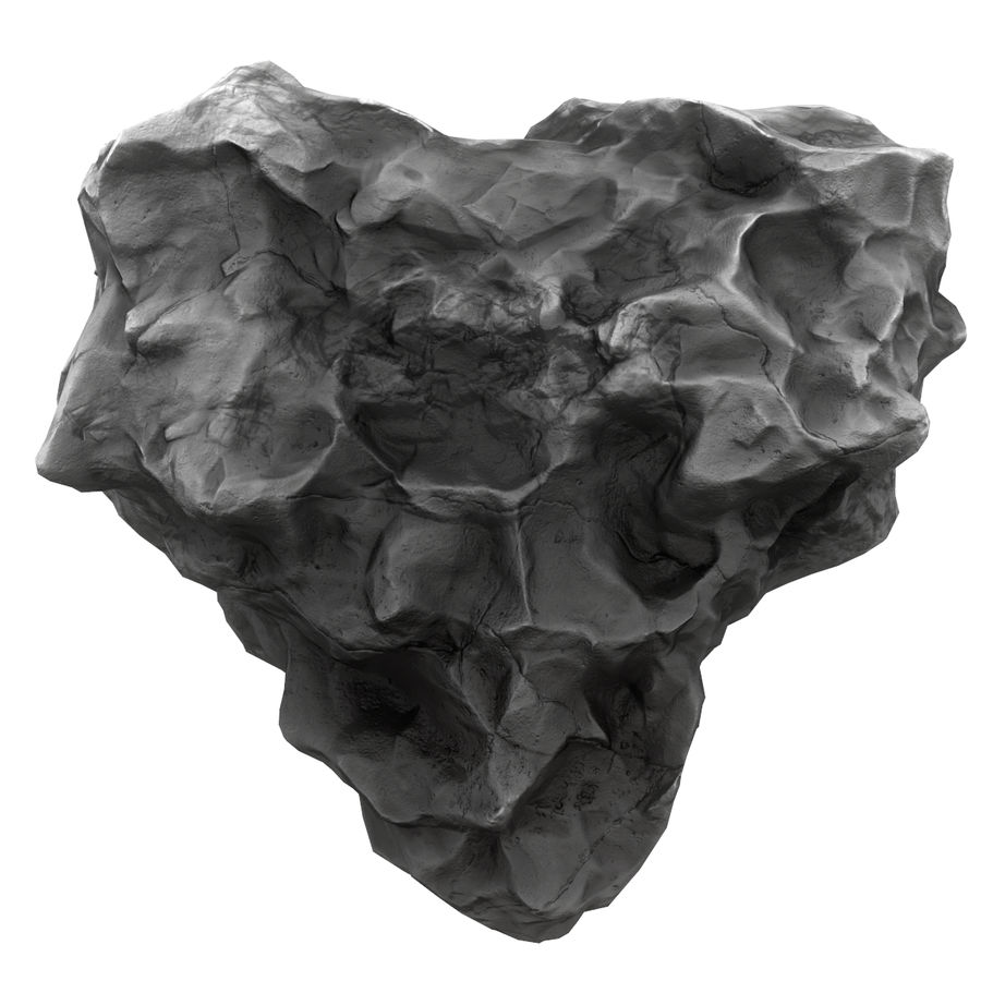 Meteor Asteroid Rock(1) royalty-free 3d model - Preview no. 5