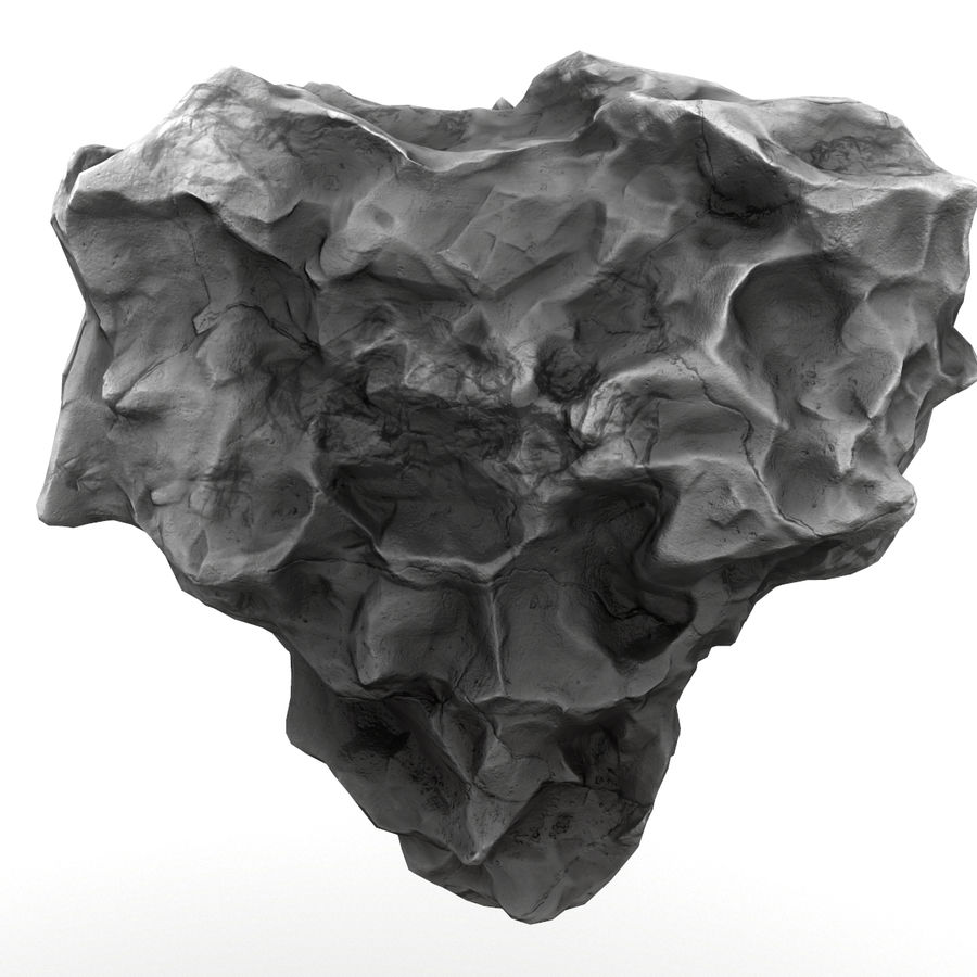 Meteor Asteroid Rock(1) royalty-free 3d model - Preview no. 4