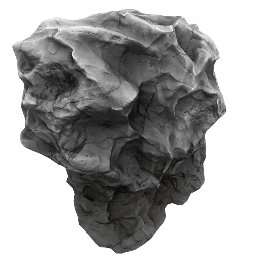 Meteor Asteroid Rock(1) royalty-free 3d model - Preview no. 3