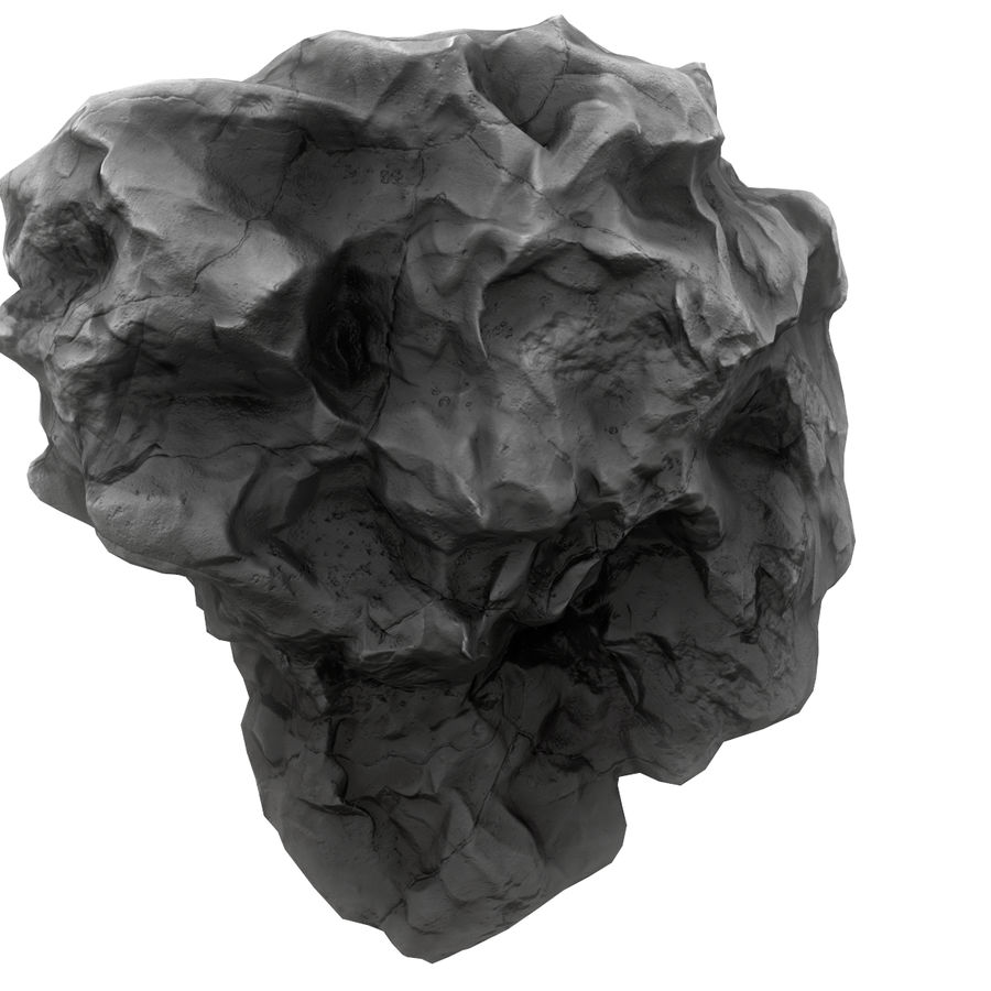 Meteor Asteroid Rock(1) royalty-free 3d model - Preview no. 7