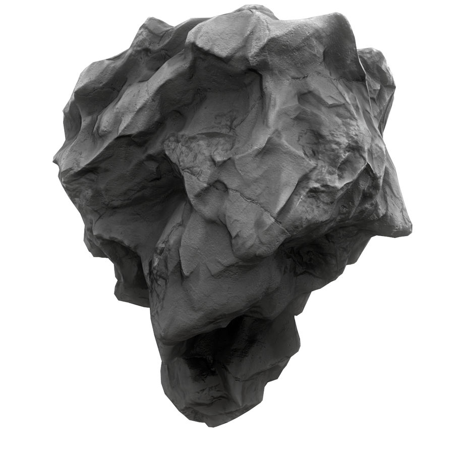 Meteor Asteroid Rock(1) royalty-free 3d model - Preview no. 6