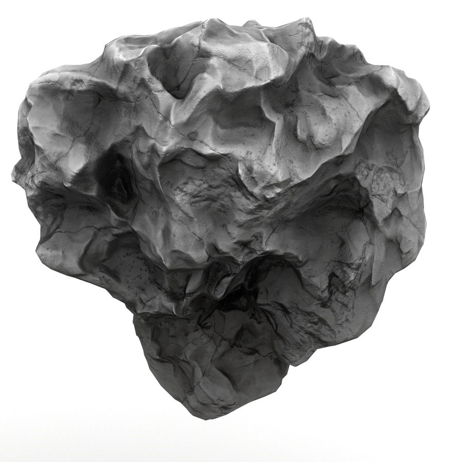 Meteor Asteroid Rock(1) royalty-free 3d model - Preview no. 1