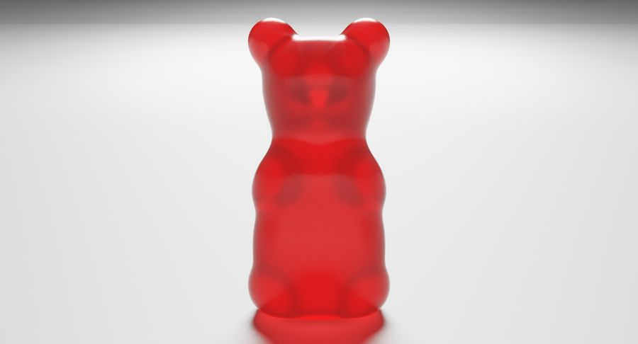 Gummy Bear royalty-free 3d model - Preview no. 4