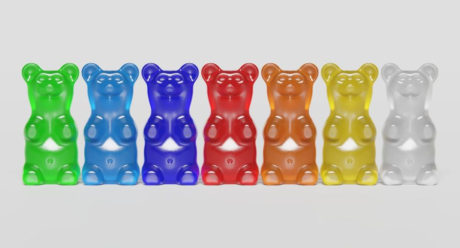Gummy Bear royalty-free 3d model - Preview no. 10