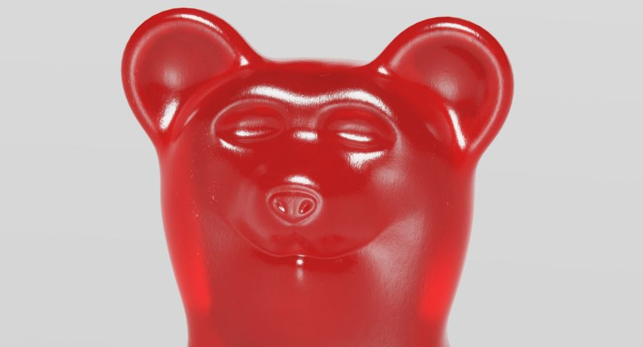 Gummy Bear royalty-free 3d model - Preview no. 8