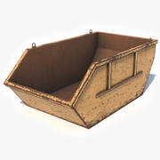 Trash Container Low Poly 3d model
