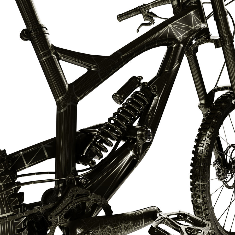 Mountainbike royalty-free 3d model - Preview no. 13