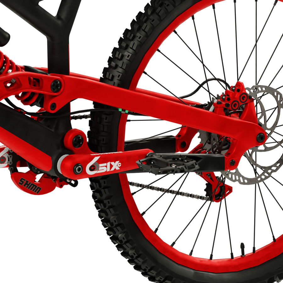 Mountainbike royalty-free 3d model - Preview no. 8