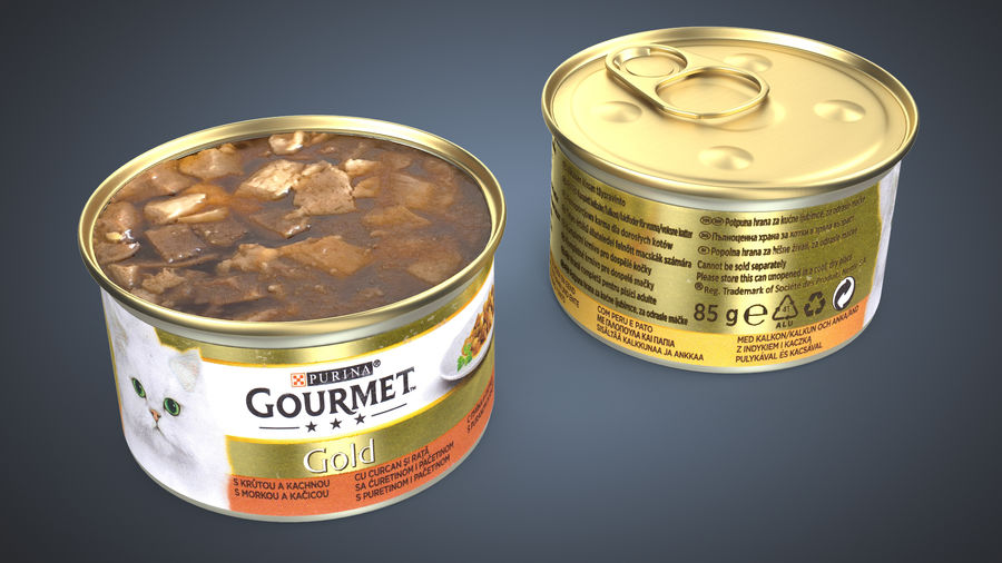 Cat Food royalty-free 3d model - Preview no. 3