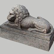 grave lion statue 3d model