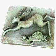 Hare and Tortoise Relief 3d model