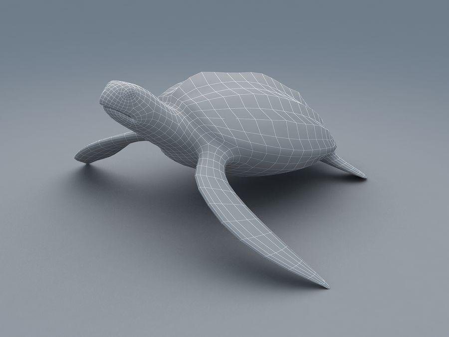 棱皮海龟Dermochelys Coriacea royalty-free 3d model - Preview no. 4