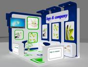 Booth Exhibition Stand a 28 3d model