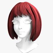 Peruka 01 - krótkie włosy boba 3d model