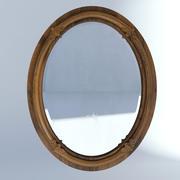 Viktorianische Spiegel-Wand altes natürliches 3d model