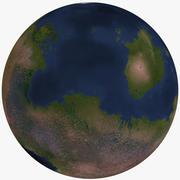 Planeta estrangeiro imaginário 06 3d model