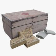 WW2 First Aid Medical Kit 3d model