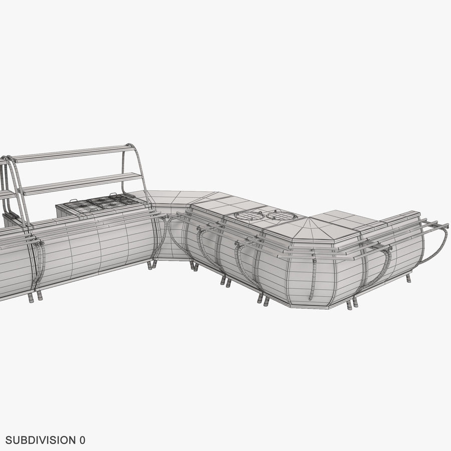 Serving Lines Equipment royalty-free 3d model - Preview no. 19