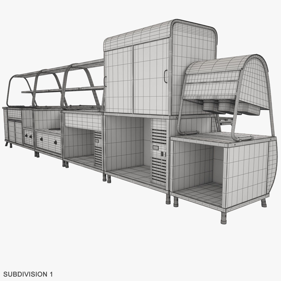 Serving Lines Equipment royalty-free 3d model - Preview no. 18