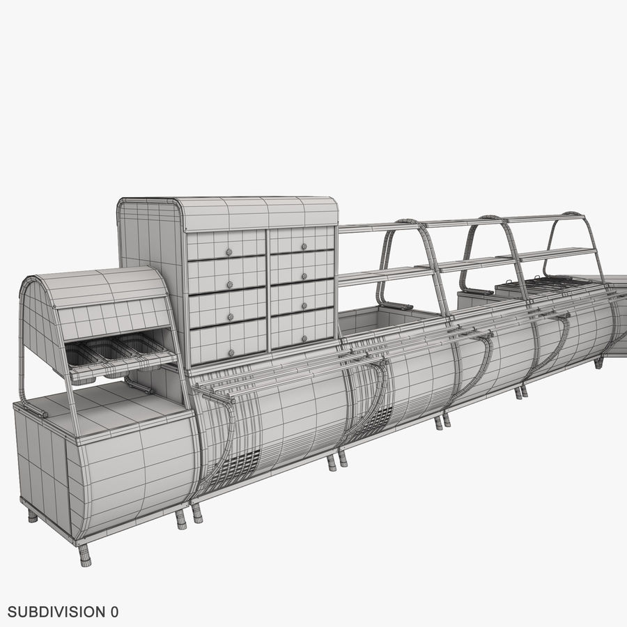 Serving Lines Equipment royalty-free 3d model - Preview no. 15