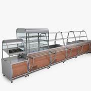 Serveringslinjer Utrustning 3d model