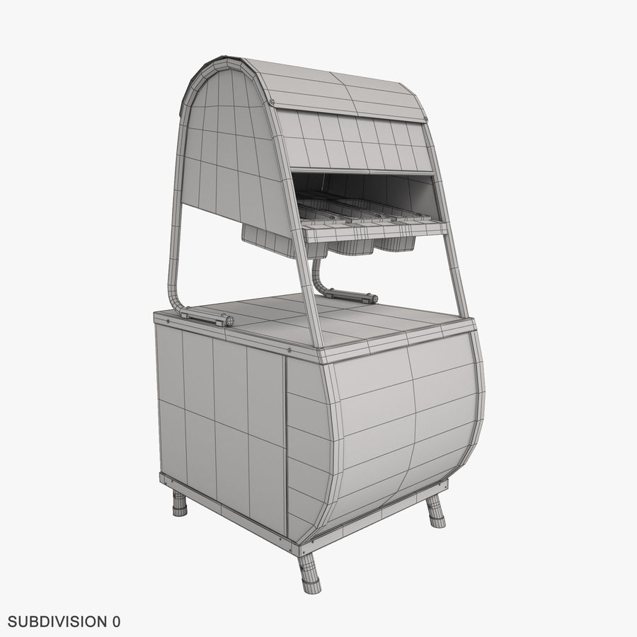 Serving Lines Equipment royalty-free 3d model - Preview no. 21