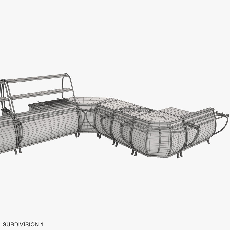 Serving Lines Equipment royalty-free 3d model - Preview no. 20
