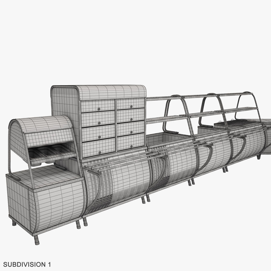 Serving Lines Equipment royalty-free 3d model - Preview no. 16