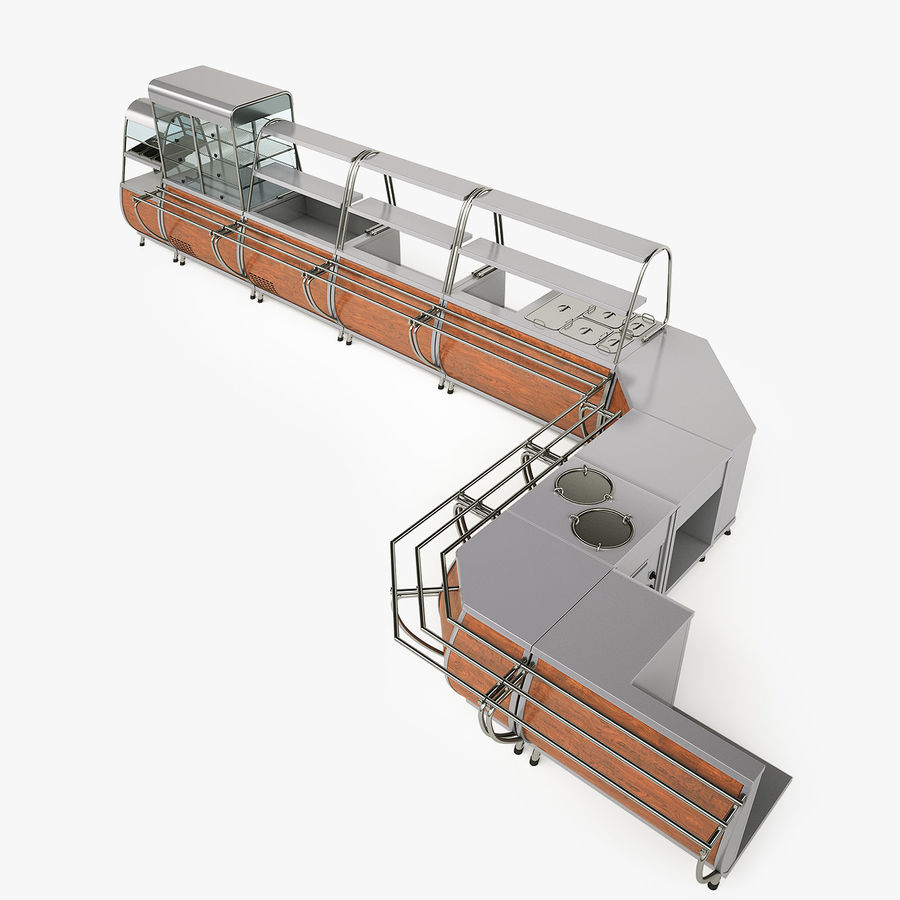 Serving Lines Equipment royalty-free 3d model - Preview no. 2