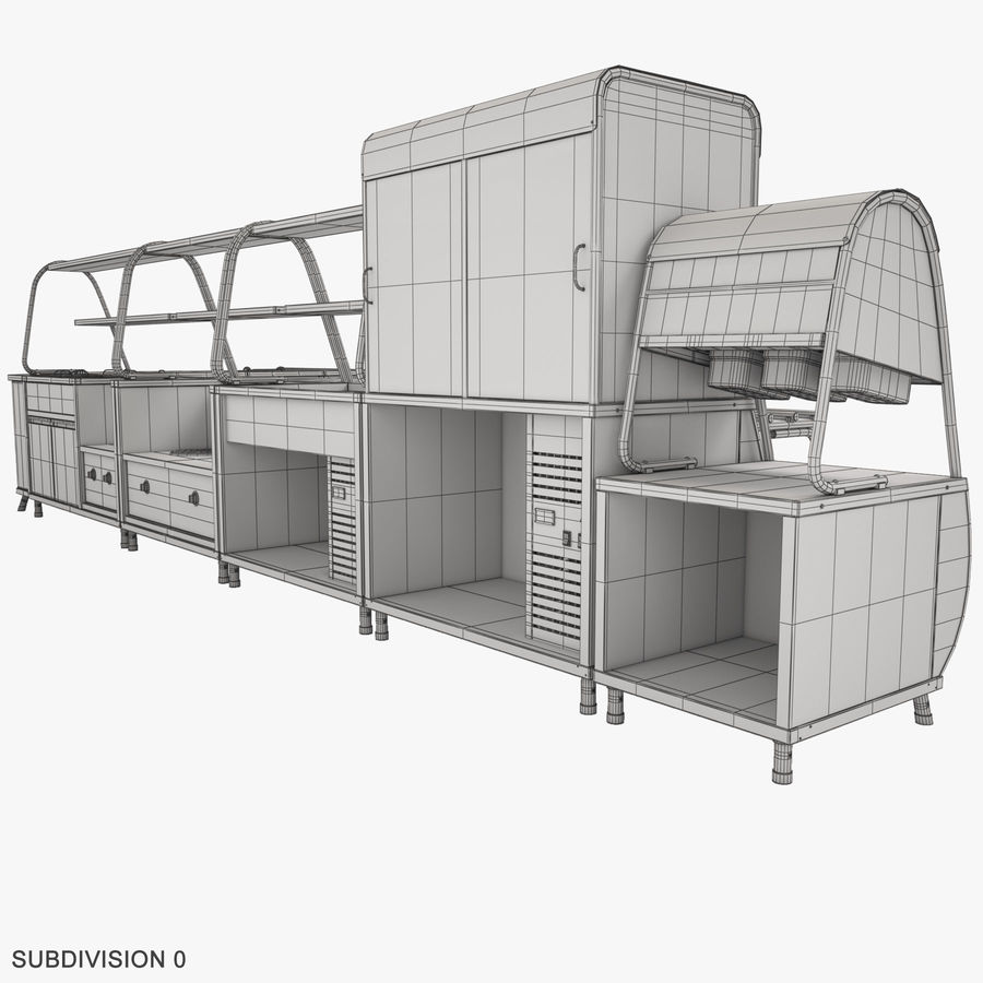 Serving Lines Equipment royalty-free 3d model - Preview no. 17