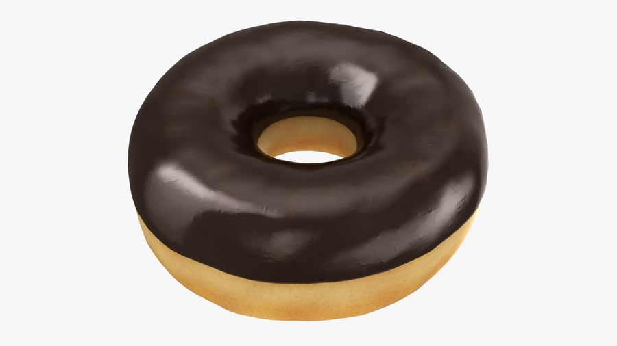 Ring Donut Chocolate royalty-free 3d model - Preview no. 2