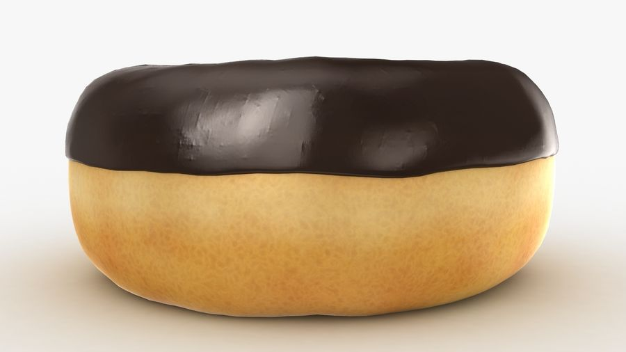 Ring Donut Chocolate royalty-free 3d model - Preview no. 10