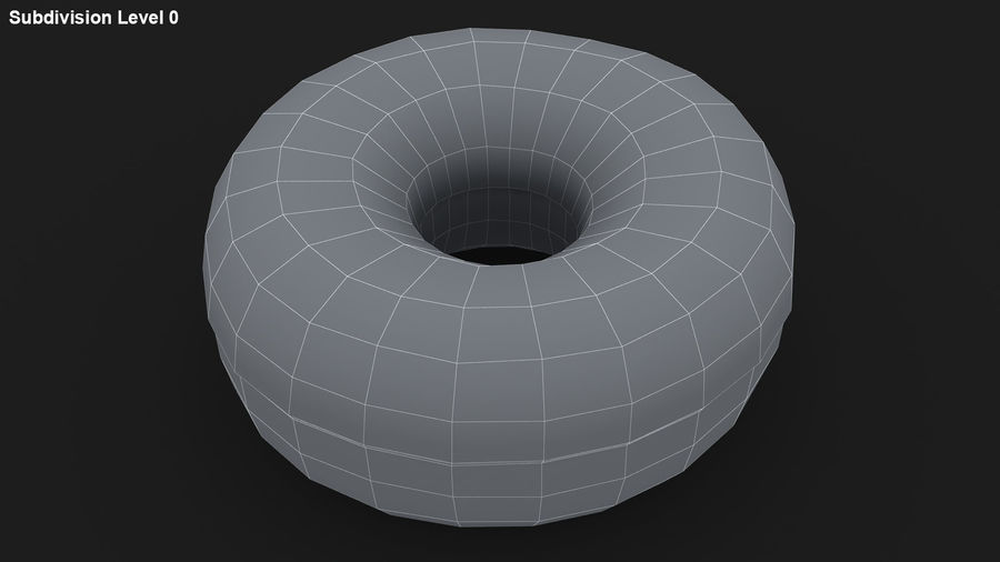 Ring Donut Chocolate royalty-free 3d model - Preview no. 22