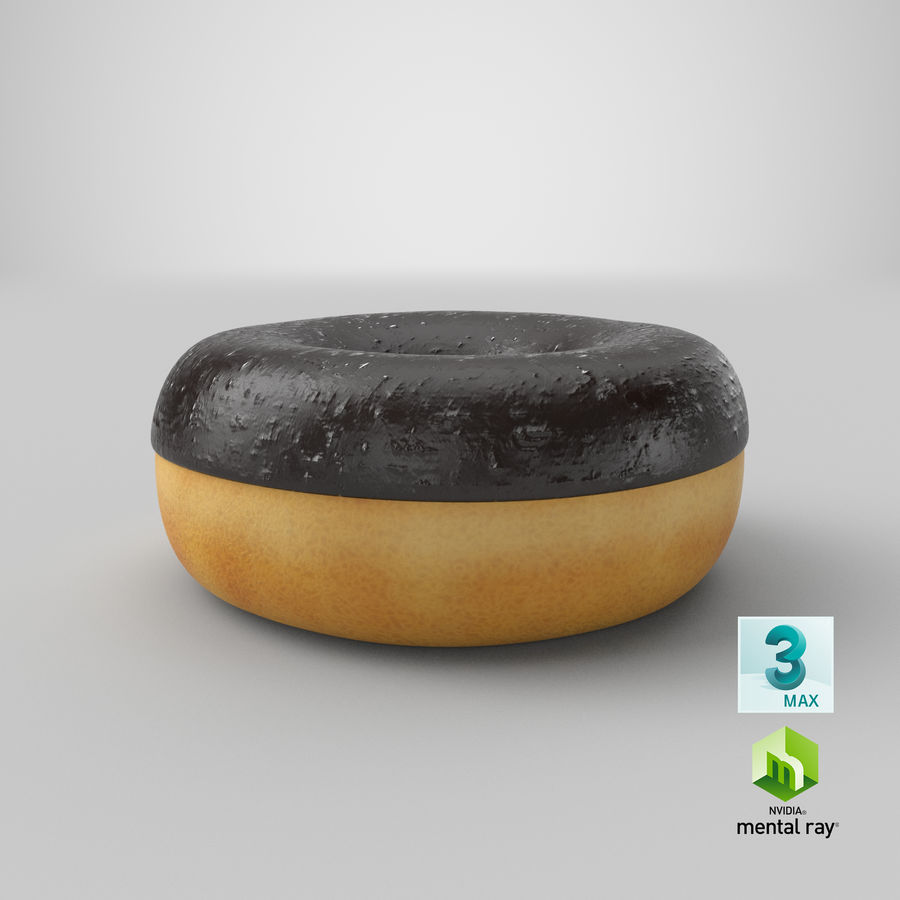 Ring Donut Chocolate royalty-free 3d model - Preview no. 29