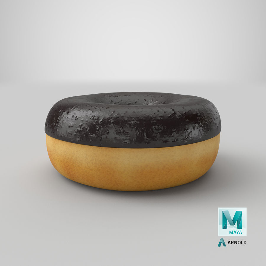 Ring Donut Chocolate royalty-free 3d model - Preview no. 31