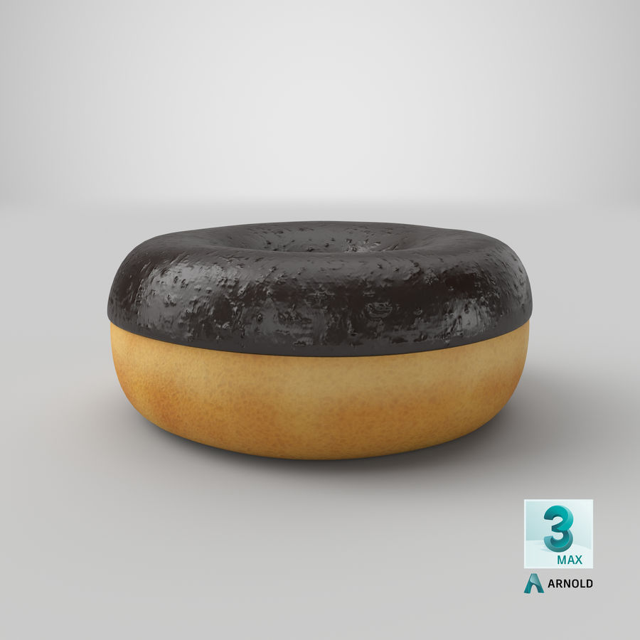 Ring Donut Chocolate royalty-free 3d model - Preview no. 28