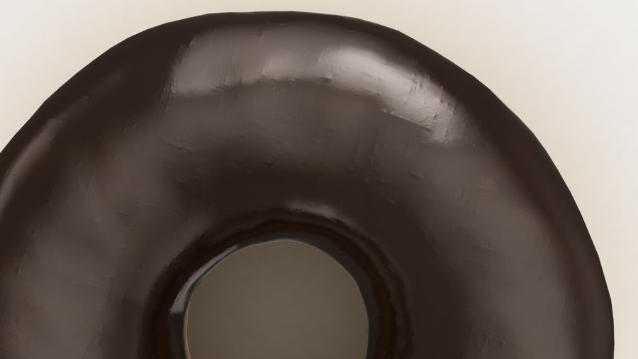 Ring Donut Chocolate royalty-free 3d model - Preview no. 13