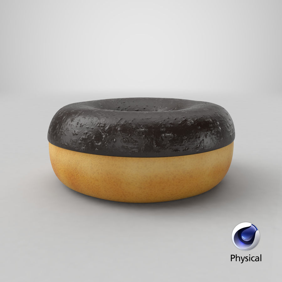 Ring Donut Chocolate royalty-free 3d model - Preview no. 26