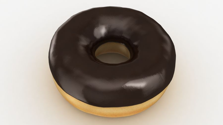 Ring Donut Chocolate royalty-free 3d model - Preview no. 6