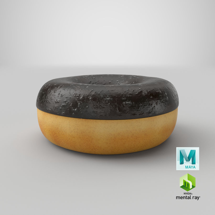 Ring Donut Chocolate royalty-free 3d model - Preview no. 32