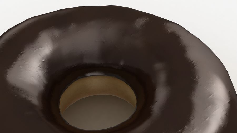 Ring Donut Chocolate royalty-free 3d model - Preview no. 7