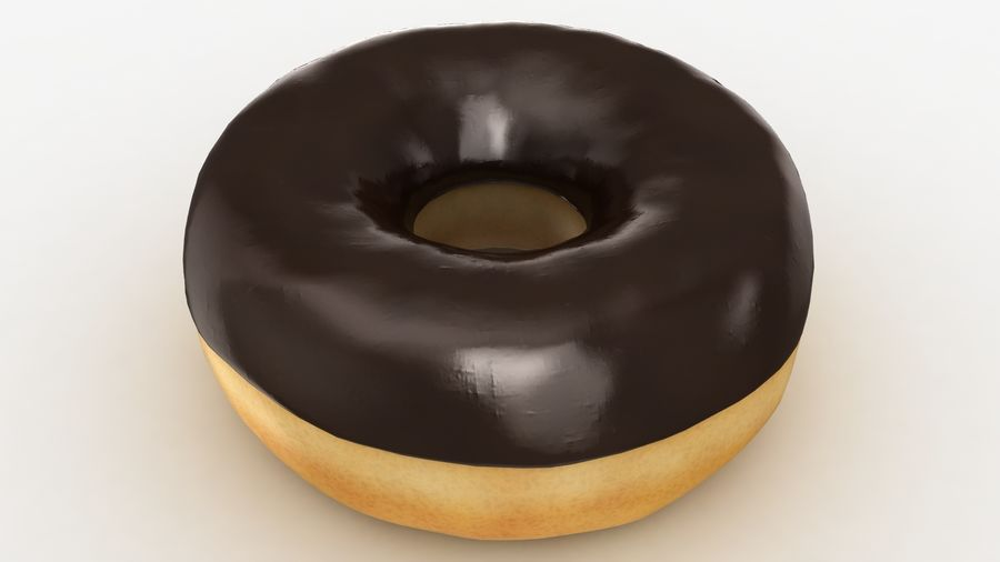 Ring Donut Chocolate royalty-free 3d model - Preview no. 15