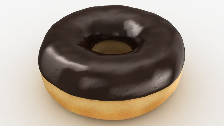 Ring Donut Chocolate royalty-free 3d model - Preview no. 9