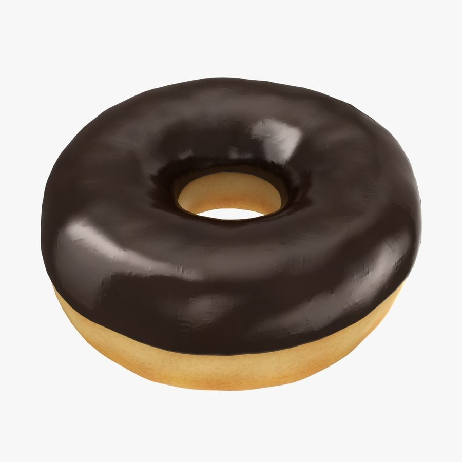 Ring Donut Chocolate royalty-free 3d model - Preview no. 1